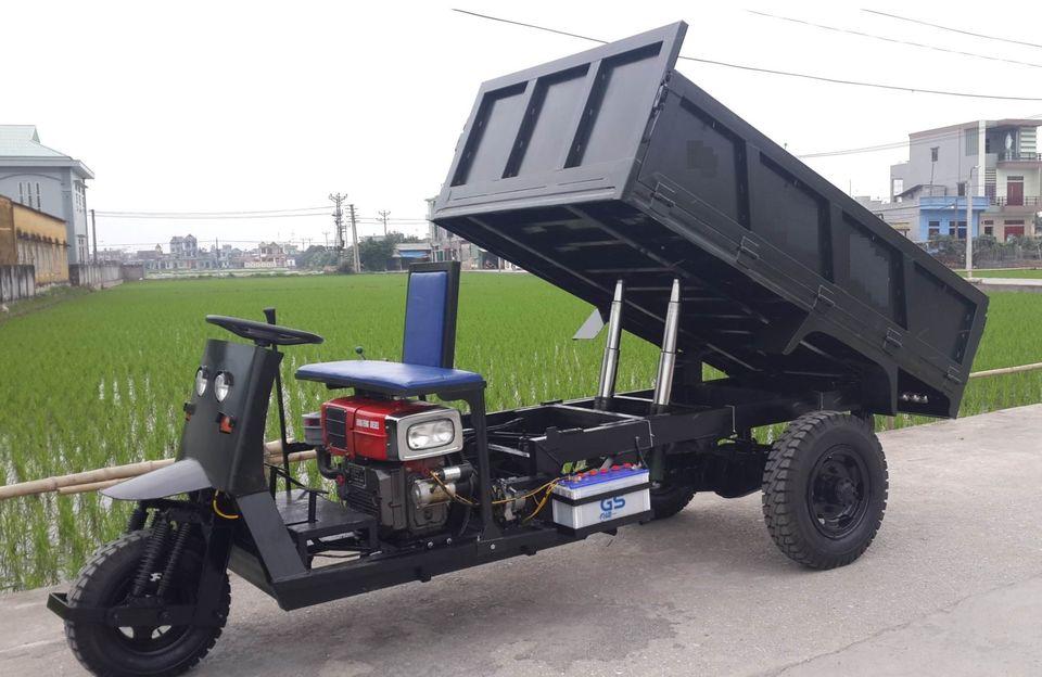 Xe Công Nông Ba Bánh Chạy Dầu Diesel